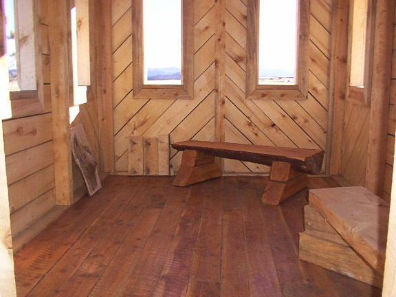Chapel Floor Rough Sawn Douglas-Fir with poly finish and clear Caulk
