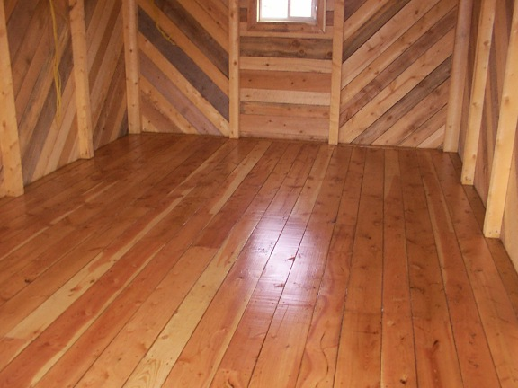 Floor Douglas-fir top rail cabins hand made by greenleaf craftsmen