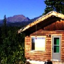 Knotty pine cabin with spread eagle built by greenleaf forestry