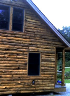 Attrayant Hand Peeled Natural Log Siding Installed On Log Cabin By Greenleaf Forestry