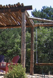 Pole pergola with swing do it yourself project by greenleaf