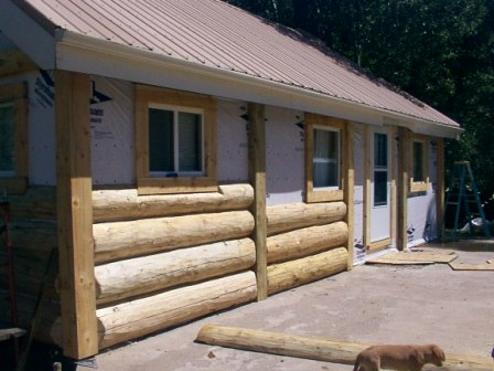Gfwp natural log siding E log siding